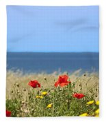 Cyprus Poppies Fleece Blanket