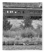 Cyrus K  Holliday Private Rail Car Bw Fleece Blanket
