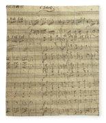 Czech Republic Prague Symphony No. 38 In D Major Called Prague Symphony Fleece Blanket