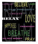 D I Y Anxiety Therapy Fleece Blanket