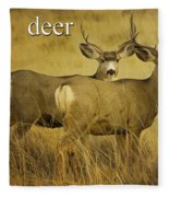 D Is For Deer Fleece Blanket