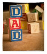 Dad - Alphabet Blocks Fathers Day Fleece Blanket
