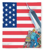 Daddys Home 9/11 Tribute Fleece Blanket