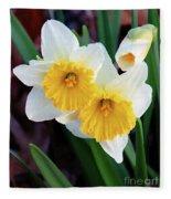 Daffodil Art  Fleece Blanket