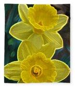 Daffodil Duet By Jrr Fleece Blanket