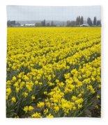 Daffodil Field Fleece Blanket