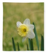 Daffodil Flower Fleece Blanket