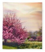 Daffodil Hill Fleece Blanket