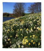 Daffodil Hill Fleece Blanket