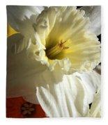 Daffodil Still Life Fleece Blanket