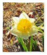 Daffodil Under Water Fleece Blanket