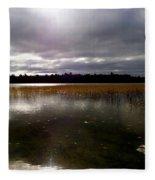Dahler Lake In Emily Minnesota Fleece Blanket
