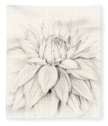 Dahlia 3 Fleece Blanket