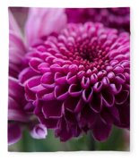 Dahlia And Mums Fleece Blanket