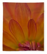 Dahlia Closeup Fleece Blanket