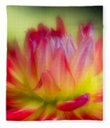 Dahlia Color Explosion Fleece Blanket