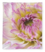 Dahlia Delight Square  Fleece Blanket