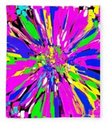 Dahlia Flower Abstract #1 Fleece Blanket