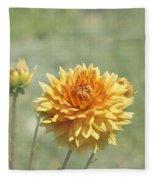 Dahlia Flowers Fleece Blanket