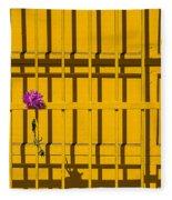 Dahlia In Yellow Gate Fleece Blanket