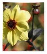 Dahlia Knockout Fleece Blanket