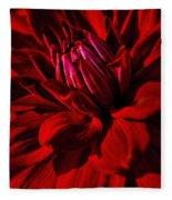 Dahlia Red Fleece Blanket