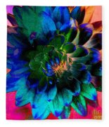 Dahlia With Textures Fleece Blanket