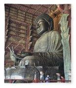 Daibutsu Buddha Of Todai-ji Temple Fleece Blanket