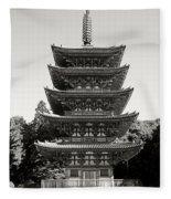 Daigo-ji Pagoda - Japan National Treasure Fleece Blanket