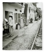 Daily Life In Hanoi Fleece Blanket