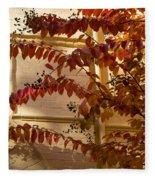Dainty Branches - Warm Autumn Colors - Washington D C Facades Fleece Blanket