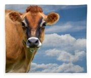 Dairy Cow  Bessy Fleece Blanket