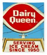 Dairy Queen Sign Fleece Blanket