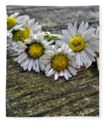 Daisies In Wreath Fleece Blanket
