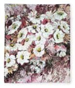 Daisy Blush Remix Fleece Blanket