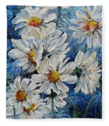 Daisy Cluster Fleece Blanket