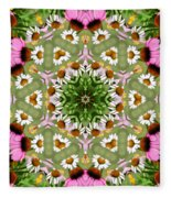 Daisy Daisy Do Kaleidoscope Fleece Blanket