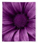 Daisy Daisy Grape Fleece Blanket