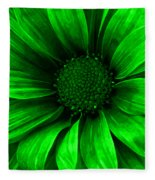 Daisy Daisy Neon Green Fleece Blanket