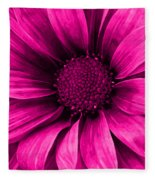 Daisy Daisy Neon Pink Fleece Blanket