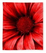 Daisy Daisy Neon Red Fleece Blanket