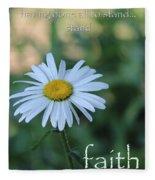 Daisy Faith Fleece Blanket