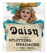 Daisy Headache Cure Fleece Blanket