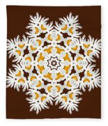 Daisy Mandala  12t Fleece Blanket