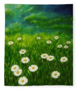 Daisy Meadow Fleece Blanket