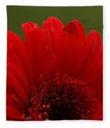 Daisy Red Fleece Blanket