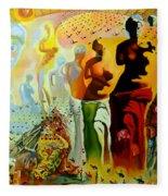 Dali Oil Painting Reproduction - The Hallucinogenic Toreador Fleece Blanket