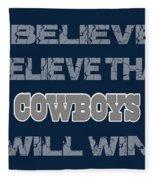 Dallas Cowboys I Believe Fleece Blanket