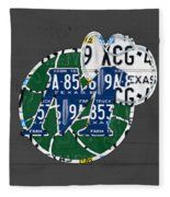Dallas Mavericks Basketball Team Retro Logo Vintage Recycled Texas License Plate Art Fleece Blanket
