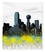 Dallas Skyline Fleece Blanket